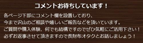 コメント欄案内